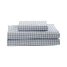 Gingham Printed Cotton Sheet Set