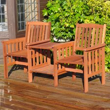 Garden 2 Seater Wooden Love Seat