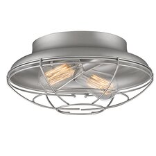 Neo-Industrial 2 Light Flush Mount
