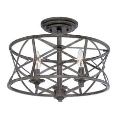 Lakewood 3 Light Semi-Flush Mount