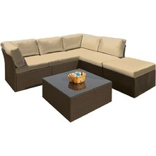 Hilton Head Modular 6 Piece Seating Group with Cushions