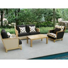 Rockport 4 Piece Deep Seating Group with Cushion