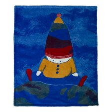 Boy on Top of The World Throw Blanket