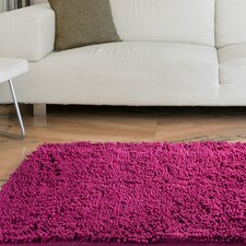High Pile Pink Solid Area Rug