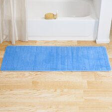 Extra Long Striped Memory Foam Bath Mat
