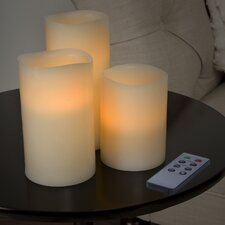 3 Piece Vanila Farmeless Candle Set