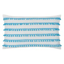 Pom Pom Cotton Lumbar Pillow