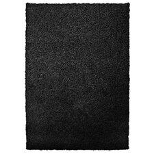 Modern Black Shag Area Rug