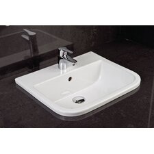 Series 600 42.5cm Semi Recessed Basin
