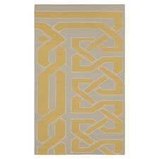 Alameda Pussywillow Gray & Dark Yellow Area Rug