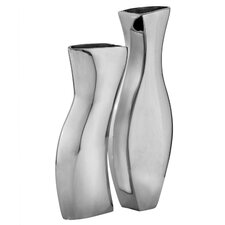 2 Piece Adjoining Vase Set