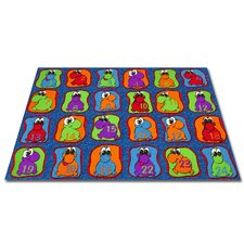 Cute Little Creatures Seating Kids Rug