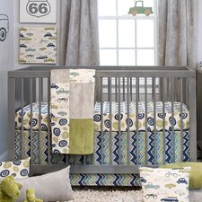 Uptown Traffic 3 Piece Crib Bedding Set
