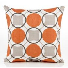 Echo Circle Cotton Throw Pillow