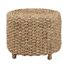 Water Hyacinth Round Braided End Table