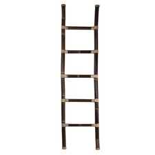 Decorative Bamboo Ladder with Rattan Sculpture
