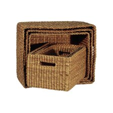 Rectangle Basket with Hole Handle (Set of 6)