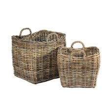 French Fireplace Basket (Set of 2)