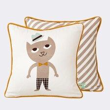 Ferm Living Kids Cat Cotton Throw Pillow