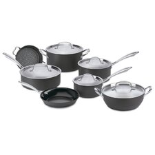 Green Gourmet Hard-Anodized Aluminum 12 Piece Cookware Set