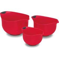 3 Piece Plastic Mixing Bowls Set