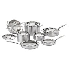 Stainless Steel MultiClad Pro 12 Piece Cookware Set