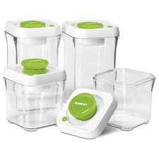 8-Piece Fresh Edge Vacuum-Seal Food Storage Container Set