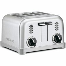 Metal Classic 4-Slice Toaster in Brushed Stainless