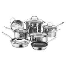 Professional 11 Piece Non-Stick Stainless Steel Cookware Set