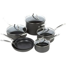 Chef's Classic Nonstick Hard-Anodized 10 Piece Cookware Set