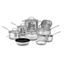 14-Piece Non-Stick Stainless Steel Cookware Set
