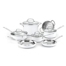 Chef's Classic 11 Piece Non-Stick Stainless Cookware Set