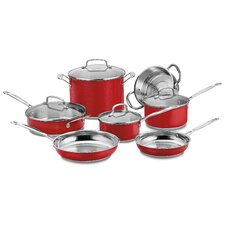 Chef's Classic Stainless Steel 11-Piece Cookware Set