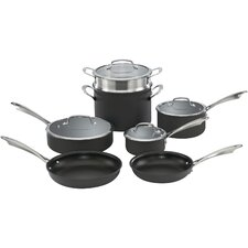 Dishwasher-Safe Hard-Anodized 11-Piece Non-Stick Cookware Set