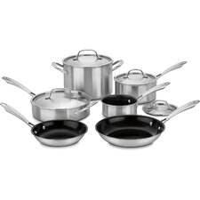 GreenGourmet Tri-Ply Stainless 10-Piece Non-Stick Cookware Set