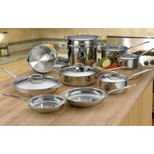 Chef's Classic 17 Piece Stainless Steel Cookware Set