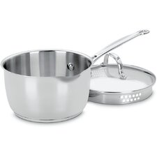 Chef's Classic Stainless Steel 2 Qt. Saucepan with Lid