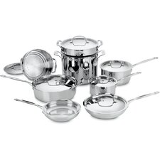 Chef's Classic Stainless Steel 14 Piece Cookware Set