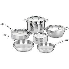 French Classic Stainless 10-Piece Cookware Set
