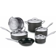 Green Gourmet Hard-Anodized 10 Piece Cookware Set