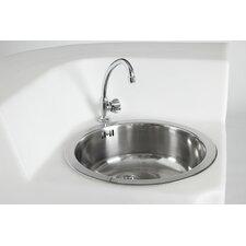 Single Jumbo Corner Sink with Tap and Drain