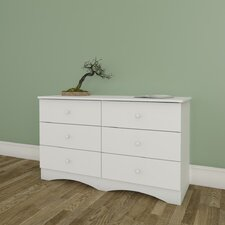 Vichy 6 Drawer Double Dresser