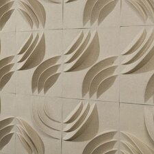 """PaperForms MIO Ripple 1' x 12"""" Abstract 3D Embossed 12 Piece Tile Wallpaper"""