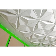 FoldScapes Crystal 2 ft. x 2 ft. Drop-In Ceiling Tile in White