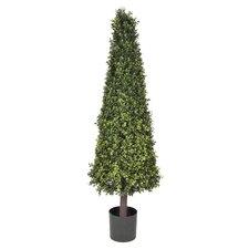 Artificial Boxwood Cone Topiary in Planter