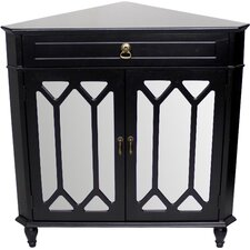 Wooden Corner Cabinet with 1 Drawer and 2 Doors