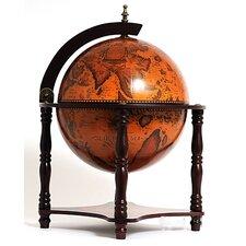 Globe Bar 4 Legged Stand-Red