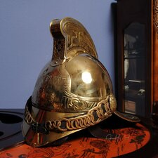 Fireman Helmet Sculpture
