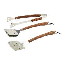 Vineyard Rosewood 3 Piece BBQ Tool Set