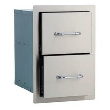 Stainless Steel Double Drawer